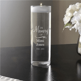 """Personalized """"In Memory Of"""" Floating Candle Vase to honor Grandma"""