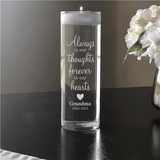 "Memorial ""Forever"" Candle Vase to honor Grandma"