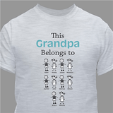 "Personalized T-Shirt ""This Grandma Belongs To"" in Gray."