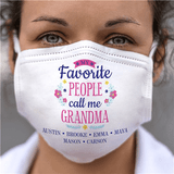 Personalized Face Mask - Grandma's Favorite People