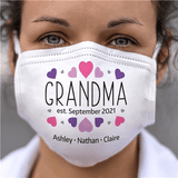 Personalized Face Mask - Grandma Established When?