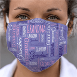 "Grandma ""Word Art"" Face Mask"