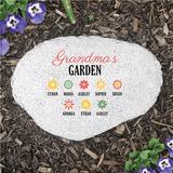 "Personalized ""Grandma's Garden"" Flat Garden Stone"