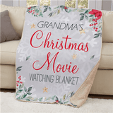 Personalized Christmas Movie Blanket for Grandma