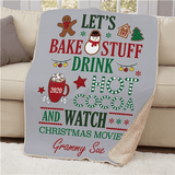 "Personalized ""Fun at Grandma's"" Christmas Sherpa"