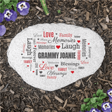 Personalized Family Garden Stone for Grandma
