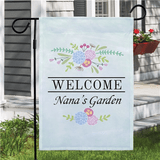 "Personalized Welcome Flag to ""Grandma's Garden"""
