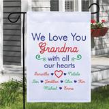 "Personalized ""Love You Grandma"" Flag"
