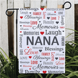 Personalized Family Garden Flag for Grandma