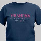 Personalized Love My Grandkids T-Shirt for Grandma - Navy