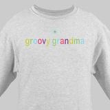 Personalized Colorful Sweatshirt for Grandma - Ash Gray