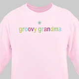 Personalized Colorful Sweatshirt for Grandma - Pink