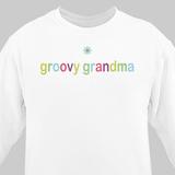 Personalized Colorful Sweatshirt for Grandma - White