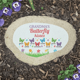 Personalized Butterfly Kisses Garden Stone for Grandma