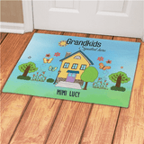 "Personalized Doormat ""Grandkids Spoiled Here"" for Grandma"