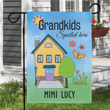"Personalized Flag for Grandma ""Grandkids Spoiled Here!"""
