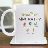 "Personalized ""Spring & Grandkids"" Mug for Grandma"