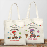 """Personalized """"Going to Grandma's"""" Canvas Tote"""