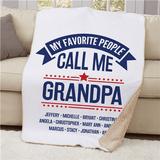 "Personalized Sherpa ""My Favorite People Call Me Grandpa"""