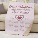 "Personalized Special Grandchildren 37""x57"" Sherpa"