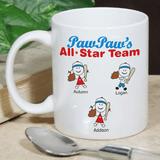 Personalized Mug - Grandpa's All Star Team