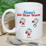 Personalized Mug for Grandma's All Star Team