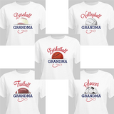 """Personalized T-Shirt for a """"Sporty"""" Grandma! - Basketball, Football, Baseball, Volleyball and Soccer"""
