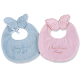 Cute bibs for your special little one in pink or blue.