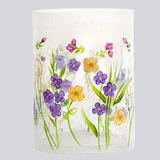 Beautiful flowers surround this lovely candle holder for a special Grandma.