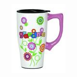 Grandma Flowered Travel Mug