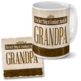 Grandpa mug and coaster set
