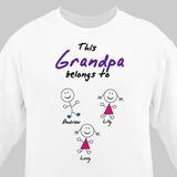 Personalized sweatshirt to show who Grandpa belongs to!