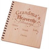 Personalized Engraved Wood Photo Album...Heavenly Blessings
