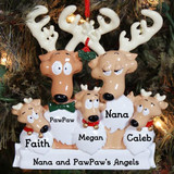 Reindeer Family Ornament - Grandma and Grandpa