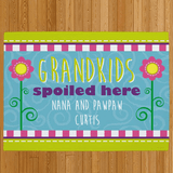 Personalized Doormat for Grandma - Grandchildren Spoiled Here