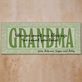 Personalized Canvas for Grandma - Count Our Blessings