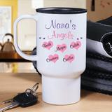 Personalized Grandma's Angels Travel Mug