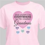 God Created Grandmas Personalized T-Shirt - Pink