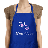 Personalized Apron - Embroidered Hugs & Kisses