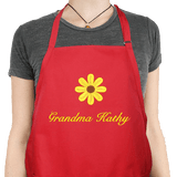 Personalized Apron with Embroidered Daisy
