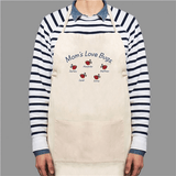 Personalized Apron, Love Bugs in natural.