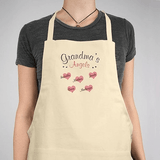 Personalized apron, Grandma's Angels in natural.