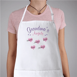 Personalized Apron - Grandma's Angels in white.