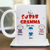 Personalized Super Grandma Cup