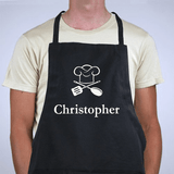 Personalized Chef Apron For Him - Black