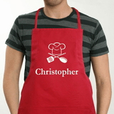 Personalized Chef Apron For Him - Red