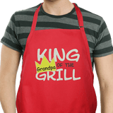 """Personalized Apron for """"King of the Grill"""" - Red"""