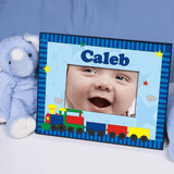 Personalized Choo Choo Train Frame for Baby Boy