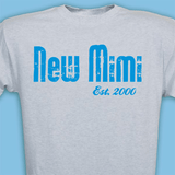 Personalized T-Shirt for New Grandma ... Established When? (Gray)