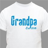 Personalized T-Shirt for New Grandpa ... Established When? (White)